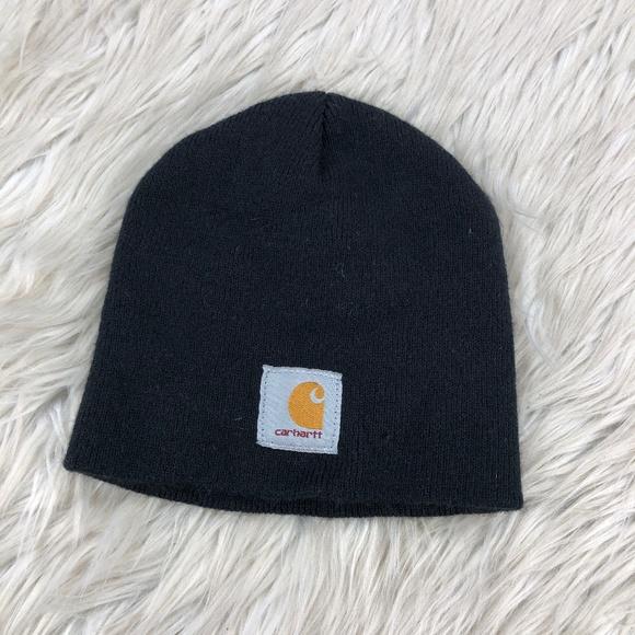 Black Carhartt Knit Beanie Hat
